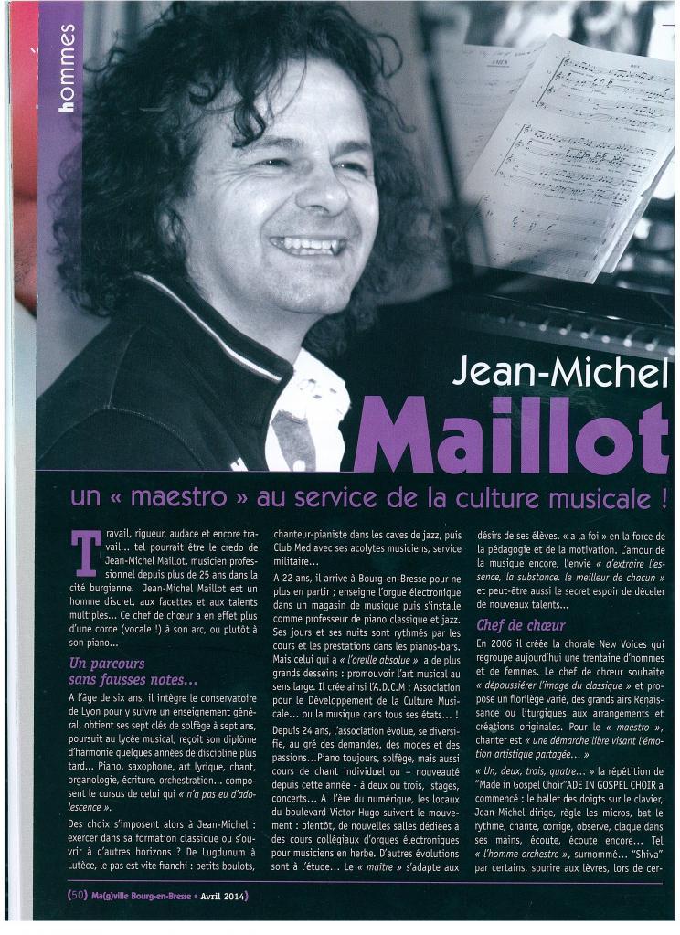 Jean-Michel MAILLOT, chef de choeur