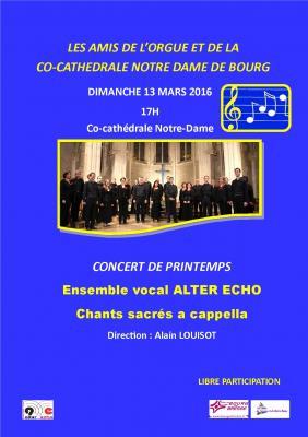 Affiche concert 13 mars