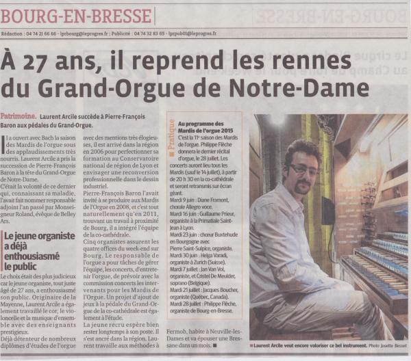 Article le progre s laurent arcile juin 2015